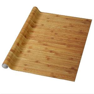 Bamboo Butcher Block Wrapping Paper