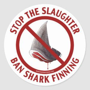 Ban Shark Finning Sticker