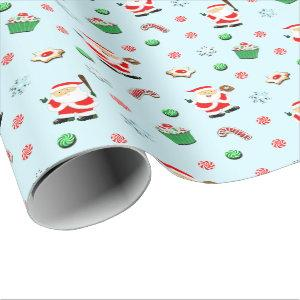 Baseball Christmas Wrapping Paper