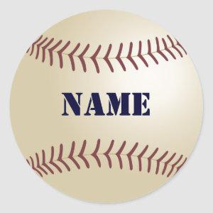 Baseball Stickers - Add Your Name