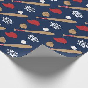 Baseball Super Star Wrapping Paper