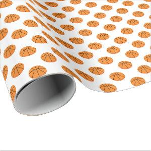 Basketball Pattern | Any Background Color Wrapping Paper