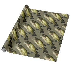 Bass Fish Men's Wrapping Paper