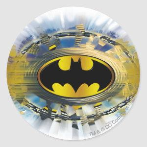 Batman Decorated Logo Classic Round Sticker