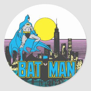 Batman & Letters Classic Round Sticker