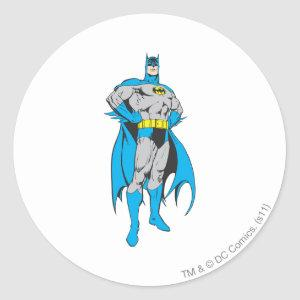 Batman Stands Classic Round Sticker