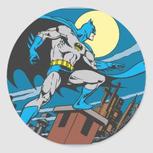 Batman Surveys City Classic Round Sticker