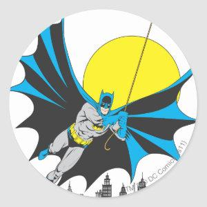 Batman Swings Classic Round Sticker
