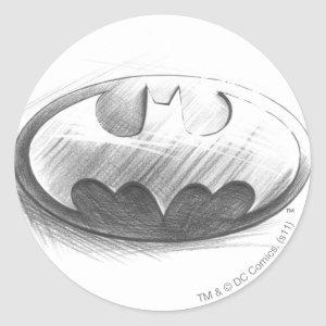 Batman Symbol | Insignia Drawing Logo Classic Round Sticker