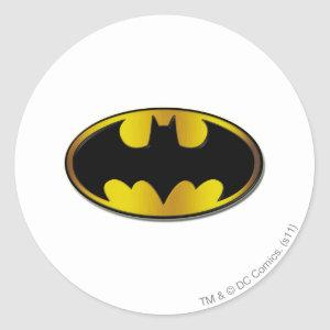 Batman Symbol | Oval Gradient Logo Classic Round Sticker