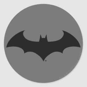 Batman Symbol | Simple Bat Silhouette Logo Classic Round Sticker
