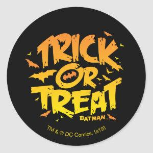 Batman | Trick or Treat Classic Round Sticker