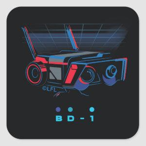 BD - 1 Badge Square Sticker