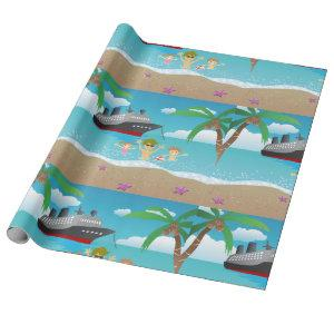 Beach Cruise Wrapping Paper