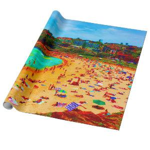 Beach Sea Life Colorful Wrapping Paper