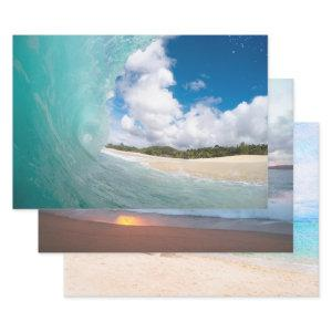 Beach Trio Tropical Paradise Wrapping Paper Sheets