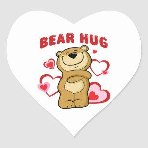 Bear Hug Heart Sticker