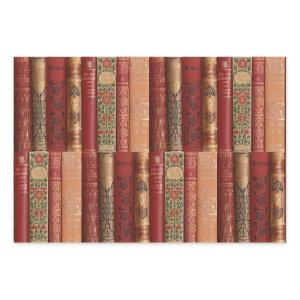 Beautiful Book Spines Wrapping Paper Sheets
