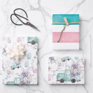 Beautiful Easter watercolor Design Wrapping Paper Sheets