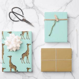 Beautiful Giraffe Safari Wrapping Paper Sheets