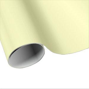 Beautiful Simple Pale Yellow Satin Wrapping Paper