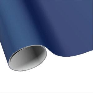 Beautiful Simple Sheen Navy Blue Satin Wrapping Paper