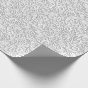 Beautiful White Faux Textured Wrapping Paper