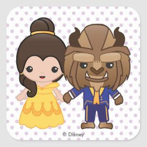 Beauty and the Beast Emoji Square Sticker