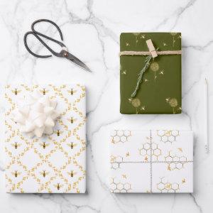 Bees and Beehives Wrapping Paper Assortment