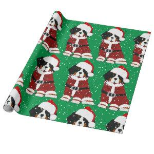 Bernese Mountain Dog Santa Paws Wrapping Paper