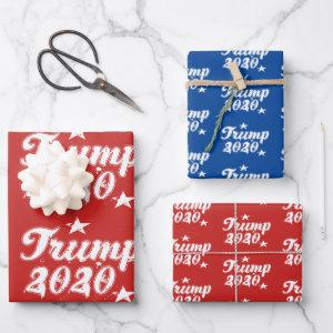 Best President Stars Red White Blue Wrapping Paper