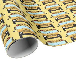 Best School Bus Driver Thank You Appreciation Gift Wrapping Paper