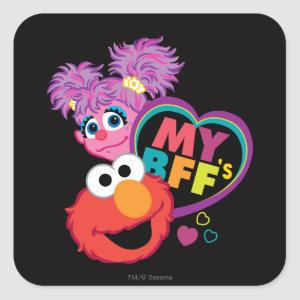 BFF Abby and Elmo Square Sticker