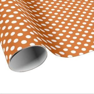 Big Dots Pattern Burnt Orange Wrapping Paper
