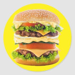 Big Hamburger Classic Round Sticker