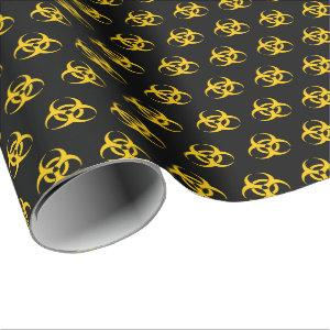 Biohazard Icon Pattern Wrapping Paper