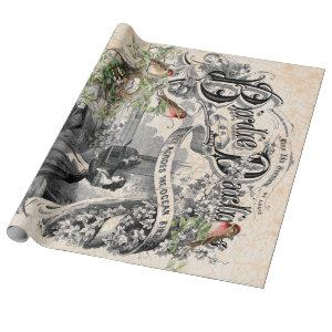 Birdie Darling Decoupage Poster Wrapping Paper