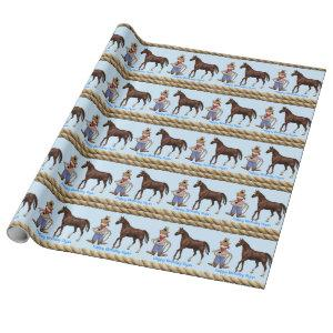 Birthday, Cowboy with Horse Wrapping Paper