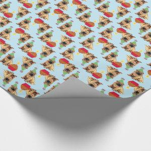 Birthday Cupcake Chinese Shar-Pei Wrapping Paper
