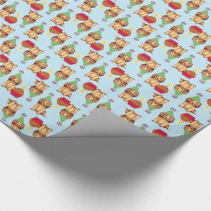 Birthday Cupcake Longhaired Dachshund Wrapping Paper
