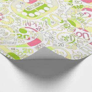 Birthday Number Word Cloud Twenty A ID270 Wrapping Paper