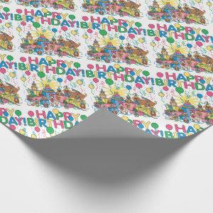 Birthday Party Animals Wrapping Paper