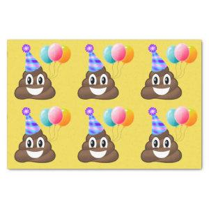 Birthday Party Emoji Poop Tissue Paper (yellow)
