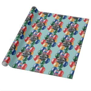 Birthday Pug dog wrapping paper