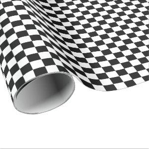 Black and White Checkered Wrapping Paper