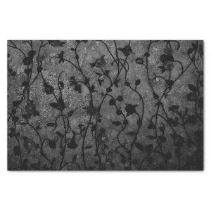 Black and White Gothic Antique Floral Tissue Paper