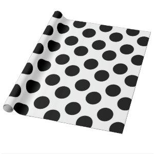 Black and White Polka Dot Gift Wrapping Paper