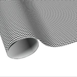 Black and White Small Chevron Wrapping Paper
