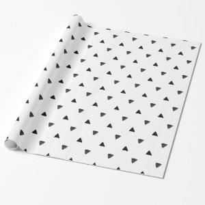 Black and White Triangle Hand Drawn Wrapping Paper