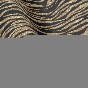 Black gold tiger stripe pattern party wrap wrapping paper